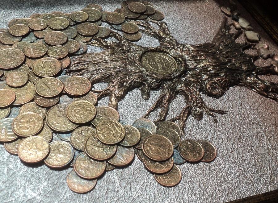 Монеты для денежного дерева своими руками